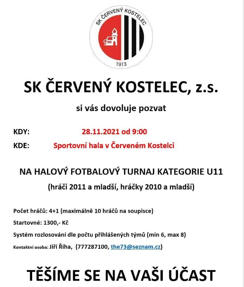 Read more about the article pozvánka na halový turnaj u11